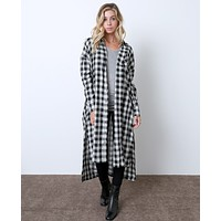 Checking Moment Plaid Shirt Dress