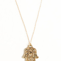Helping Hamsa Necklace - $18.00: ThreadSence, Women's Indie & Bohemian Clothing, Dresses, & Accessories