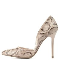 Snake Python Print Pointed Toe D'Orsay Pumps by Charlotte Russe