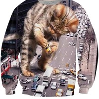 Kitty Zilla Crewneck Sweatshirt