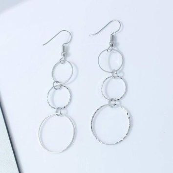 Diamond Cut Silver Circles