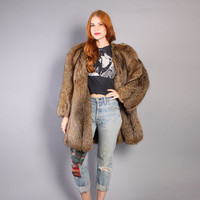 80s  FOX FUR COAT / Ultra Plush & Fluffy Crystal Fox Stroller Jacket