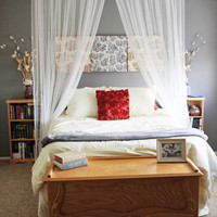 Rosy Red Buttons: diy bed canopy tutorial {tuesday}