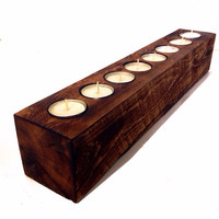 Rustic Candle Holder, Rustic Centerpiece, Home Decor, Cabin Decor, Rustic Gifts, Trending Gifts, Candle Holder, Reclaimed Wood