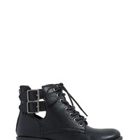 Stomp The Town Lace-Up Booties GoJane.com
