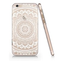 Supertrampshop - White Mandala - Cover Iphone 6 6s Full Protection Durable Transparent Plastic Phone Case