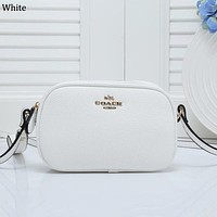 COACH tide brand female diagonal diagonal oval shoulder bag White