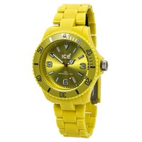 Ice CSYWBP10 Men's Classic Solid Big Yellow Dial Yellow Plastic Bracelet Watch