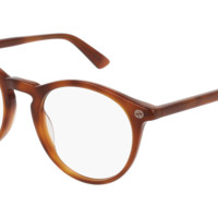 Gucci - GG0121O-003 Havana Eyeglasses / Demo Lenses