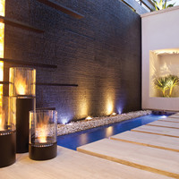 Bioethanol outdoor fireplace LIGHTHOUSE Outdoor Fireplaces Series by EcoSmart Fire   design Marc Veenendaal
