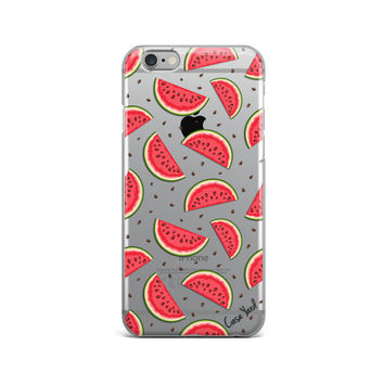 Watermelon clear iphone 6s case,clear iphone 6s case,clear iphone 6 case, iphone 5 case, colored iphone cases, clear iphone cases,christmas