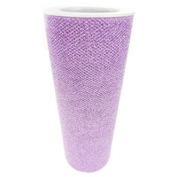 Tulle Spool Fabric Net with Glitters, 6-inch, 10-yard, Lavender