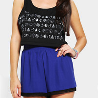 Urban Outfitters - Warpaint Mystical Signs Cropped Tank Top