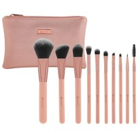 Pretty in Pink 10 Piece Makeup Brush Set | BH Cosmetics