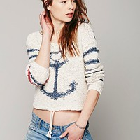 Free People Womens Sailor Song Pullover - Ivory,
