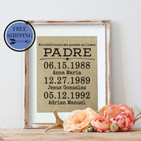 Father's Day Gift for Padre | Gift for Padre | Padre of the Bride Gift| My greatest blessings call me Padre in Spanish | Spanish Dad Gift