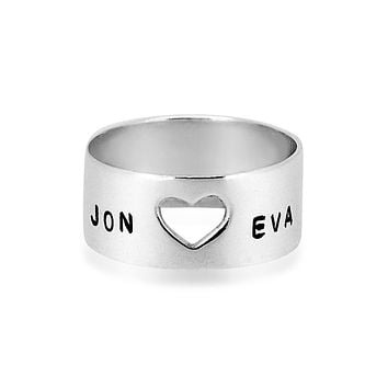 Open your Heart Silver Ring