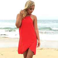 Flawless Red Shift Dress