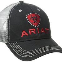 Ariat Men's Gray Mesh Hat, Black, One Size