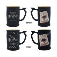 Wizarding World Harry Potter Marauder's Map Heat Reactive Footstep Coffee Tea Mug Exclusive - NEW