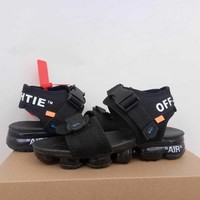 2018 Off White x NIKE AIR Vapormax Black Men Sandal