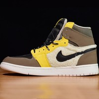 Famous Basketball Nike Air Jordan 1 Utility Pack OG Sneakers Luxury Designer Men Sports Shoes Like Basketball Shoes with Shoes Box