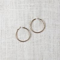 Texture Hoop Earrings