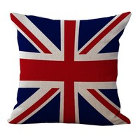 British Flag Throw Pillow Cover