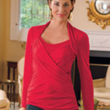 Criss-Cross Top with Tummy Tamer