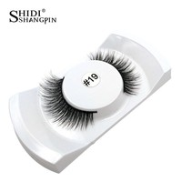 1 Pair 3d mink lashes mink eyelashes natural false eyelashes winged makeup black fake eye lashes eyelash extension faux cils
