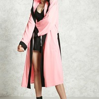 Satin Contrast Hooded Robe