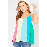 Kaleidoscope of Color Top - Vivid Rainbow