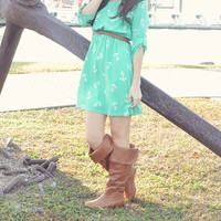 Let Your Anchor Down Dress: Seafoam Green