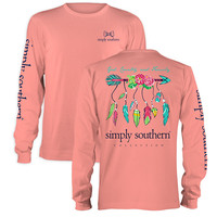 Simply Southern God Country Family Arrow Feathers Long Sleeve T-Shirt