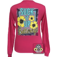 SALE Girlie Girl Originals Suck It Up Buttercup Pink Long Sleeves T Shirt
