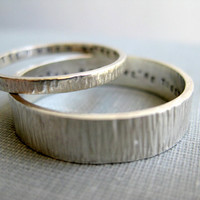Personalized Couple Rings His n' Hers by boutonrougedesigns