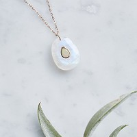 Free People Orso Opal Embedded Moonstone Necklace