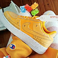 Air Force 1 Nike AF1 Deconstructed graphics Shoes Flat Shoes Yellow