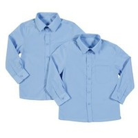 Clothing at Tesco | Back To School Boys Pack of 2 easy iron long sleeve shirts > shirts > Shirts > back to school