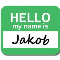 Jakob Hello My Name Is Mouse Pad