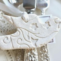 Baptism Gifts, Wedding Dove Favors Imprinted Salt Dough Ornaments Set of 10 Wedding Napkin Rings Personalized or Plain