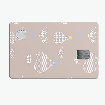 Heart Air Balloons with Blue Birds - Premium Protective Decal Skin-Kit for the Apple Credit Card