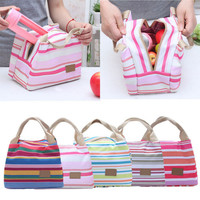 Thermal Insulated Lunch Carry Canvas Bags