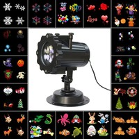 Kmashi Snowflake Projector Lights Outdoor LED Laser Stage Chrismas Halloween Decoration Light for DJ Bar Party Garden Home EU US