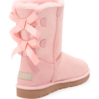 UGG Australia Bailey Bow-Back Short Boot, Baby Pink