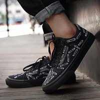For Those Who Sin x Vans Old Skool Sneakers Training Shoes Black