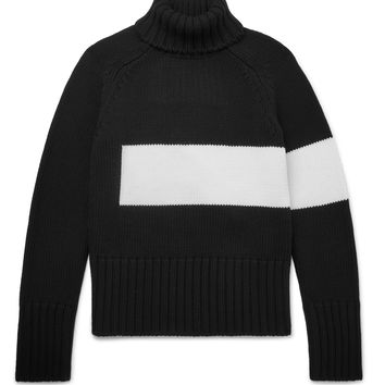 Wooster + Lardini - Striped Wool Rollneck Sweater
