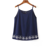 FREE SHIPPING A new line of women's dresses with embroidered suspenders tops