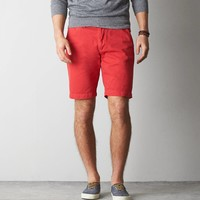 AEO 10? Classic Flat Front Short, Bright Rhubarb | American Eagle Outfitters