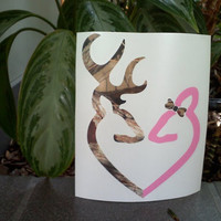 Browning Deer Buck and Doe Decal for Auto by VinylDecalsandGlass